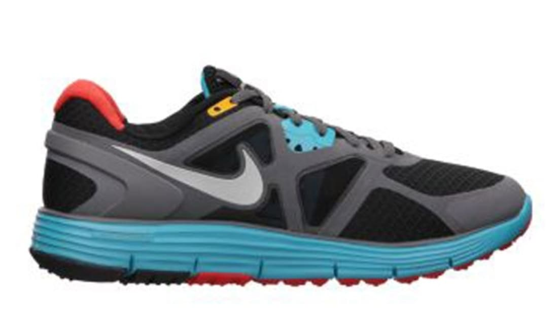 Nike LunarGlide+ 3 N7 Women's Black/Metallic Silver-Dark Turquoise-Grey