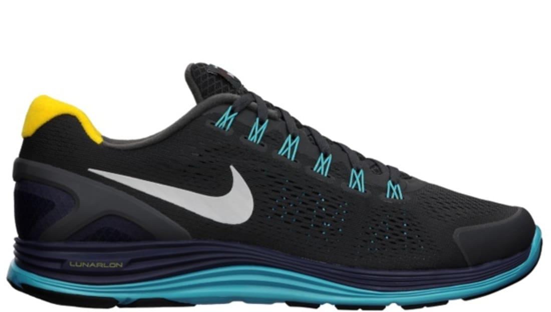 Nike Lunarglide+ 4 N7 Anthracite/White-Blackened Blue-Dark Turquoise