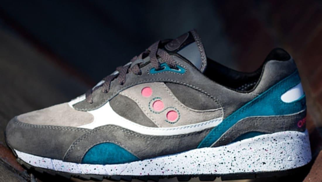 Saucony Shadow 6000 Grey/Neon Pink-Turquoise