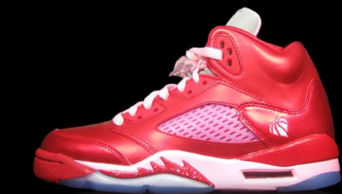 online retailer 25423 93a09 Girls Air Jordan 5 Retro GS Valentine s Day
