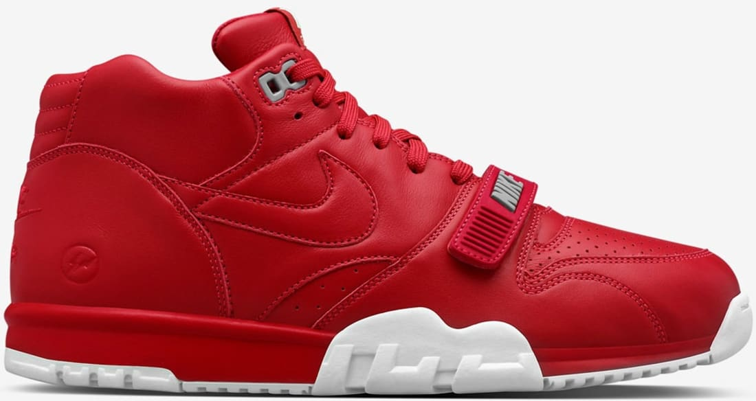 new concept e3bee f3b34 fragment design x NikeLab Air Trainer 1 Mid Premium Gym Red White