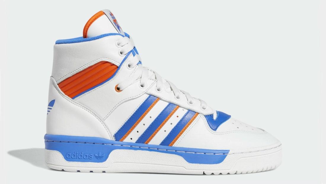 the best attitude 30915 ac564 Eric Emanuel x Adidas Rivalry Hi Crystal White Blue Orange