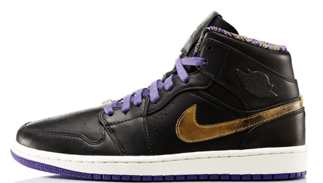 Air Jordan 1 Mid Nouveau BHM Black Metallic Gold-Court Purple ... ad85cf80f