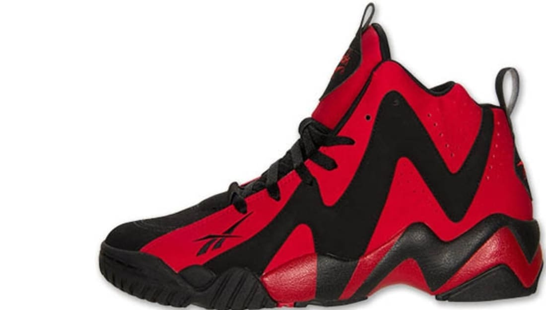 Reebok Kamikaze II Mid Black Flash Red-White  155a69e15