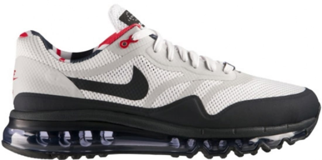 Nike Air Max 1 2013 QS London White/Dark Obsidian-University Red-Neutral Grey