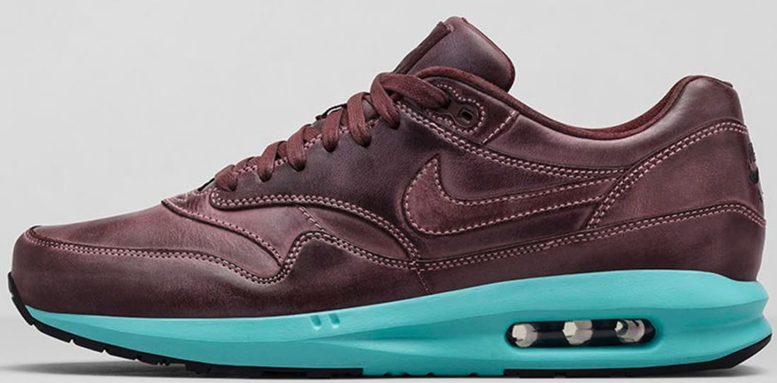 the best attitude 07c5a 3d4fe Nike Air Max Lunar1 Leather Mahogany/Mahogany-Island Green | Nike ...