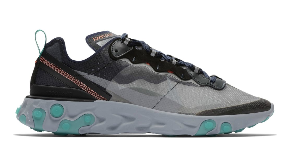 Nike React Element 87 Black/Neptune Green-Bright Mango-Midnight Navy