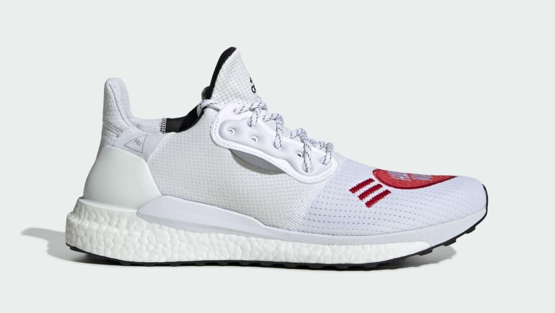 Human Made x Adidas Pharrell Solar Hu White/Red