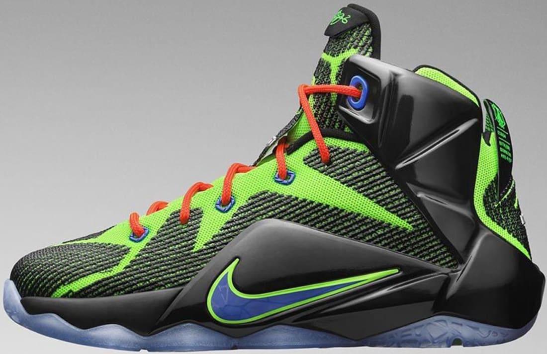 Nike LeBron 12 GS Black/Electric Green