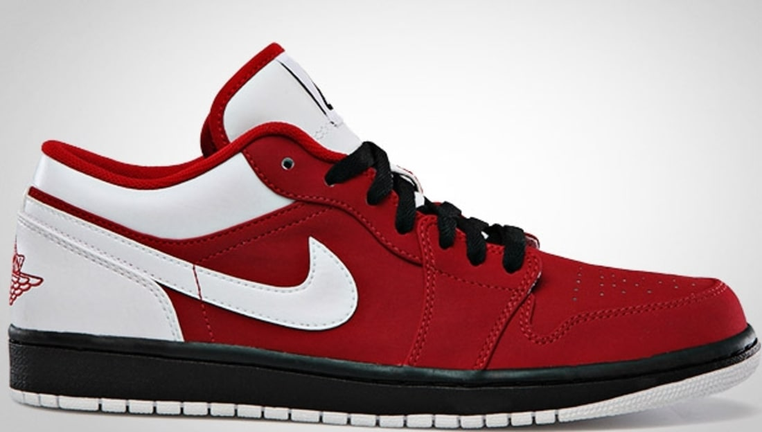 Air Jordan 1 Low Gym Red White-Black  26c6aaa163