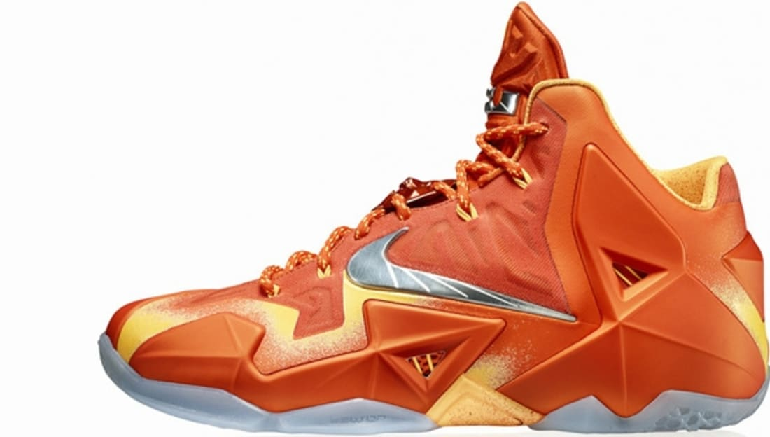 Nike LeBron 11 Urban Orange/Light Armory Blue-Laser Orange