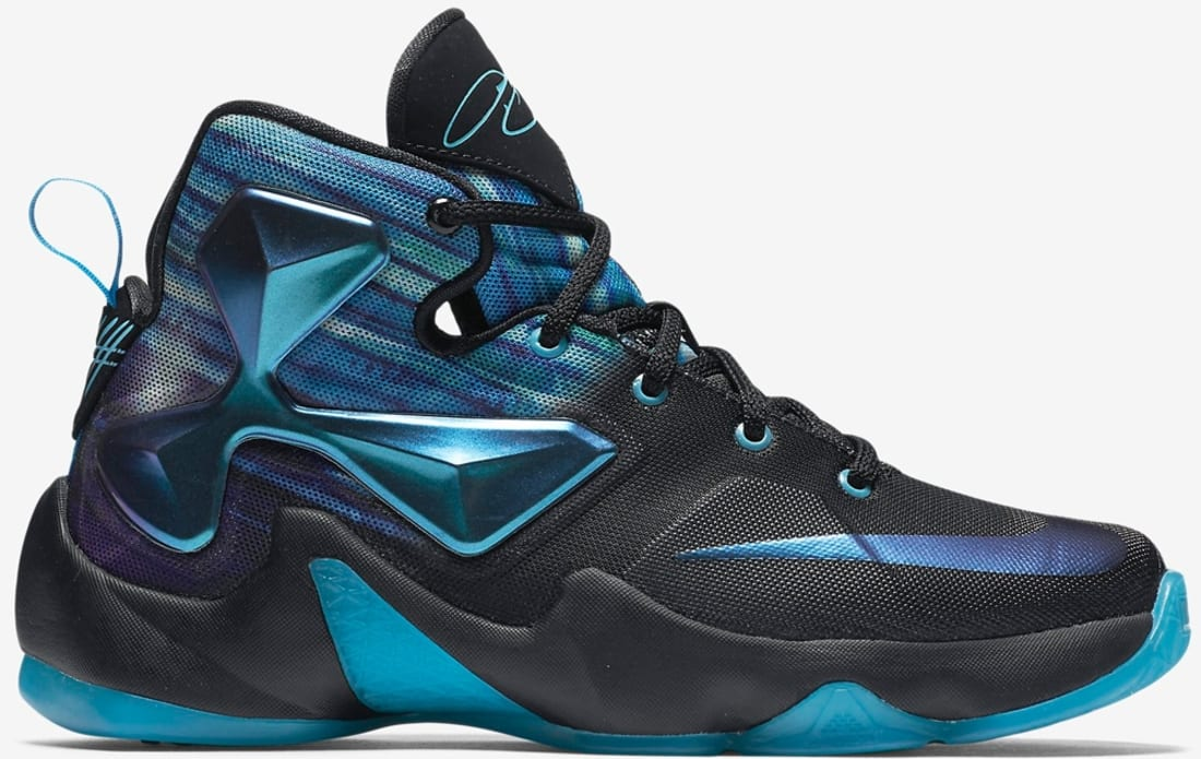 reputable site d8fa4 06ca7 Nike LeBron 13 GS Black/White-Heritage Cyan-Bright Blue ...