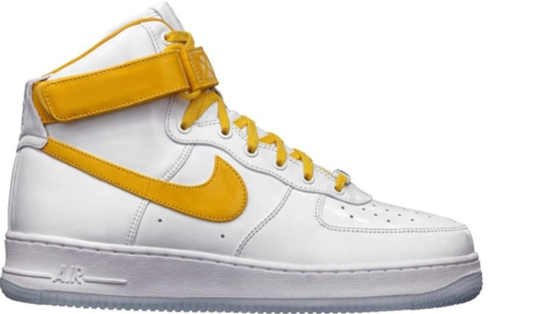 yellow high top air force 1