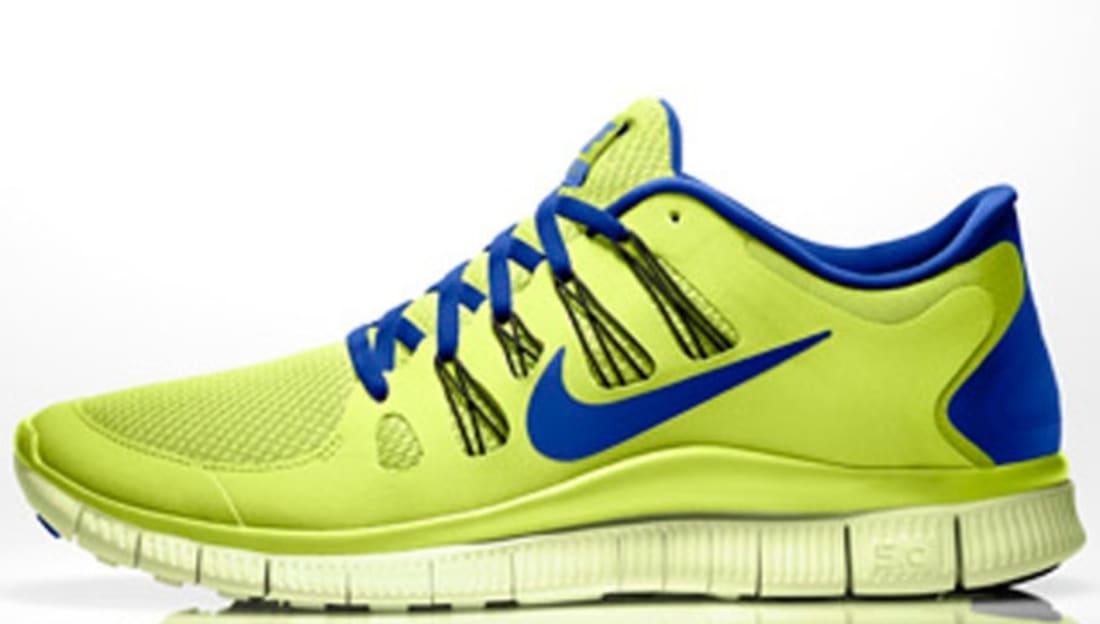 18fa6a08e777 Nike Free 5.0+ Volt Hyper Blue-Black-Volt