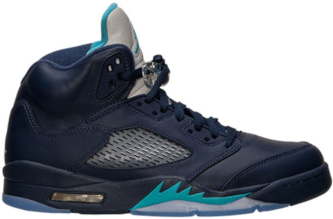 quality design 5f5df a38c1 Air Jordan 5 Retro Midnight Navy/Turquoise Blue-White ...