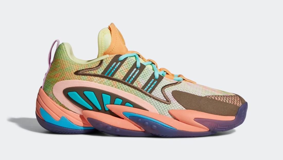 Pharrell Williams x Adidas Crazy BYW 2.0 Yellow Tint/Chalk Coral/Trace Purple
