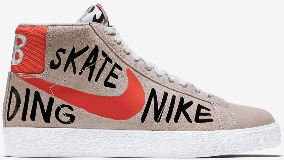 Geoff McFetridge x Nike SB Blazer Premium Summit White/Team Orange