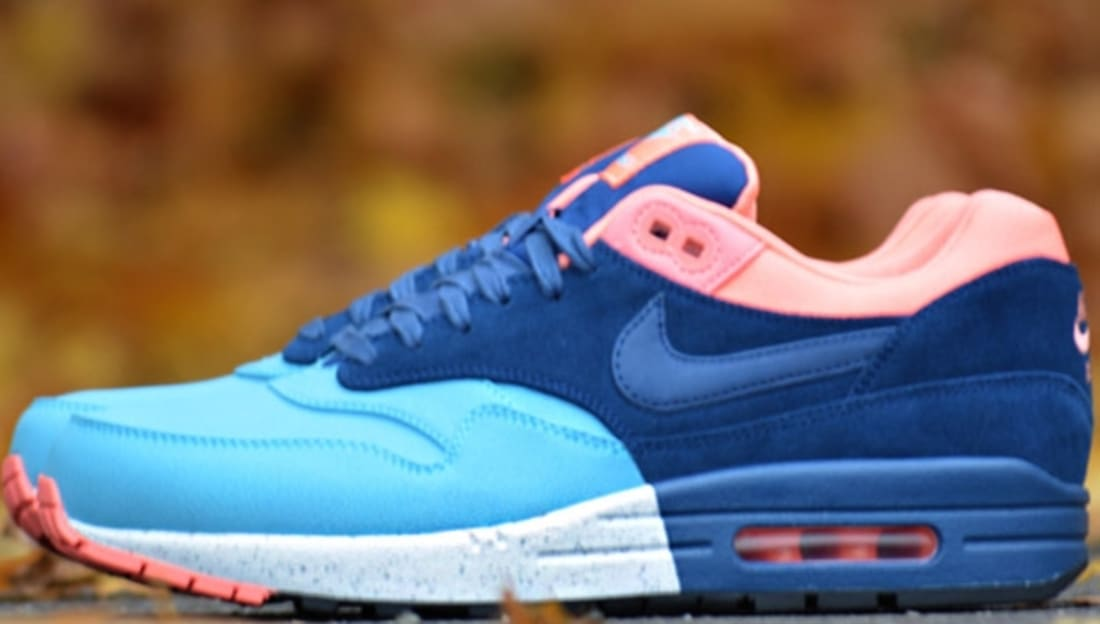 Nike Air Max 1 Premium Gamma Blue/Brave Blue-Black-Atomic Pink