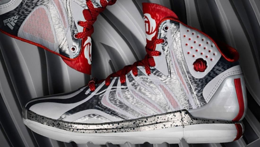 22eb3829642f Adidas · adidas D Rose · Adidas D Rose 4. adidas Rose 4.5 Clear Grey Light  Scarlet-Dark Onix