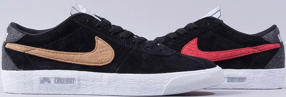 Nike Bruin Premium SE SB Black/White-Gum Light Brown-Metallic Gold