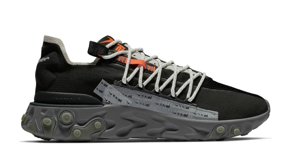 Nike ISPA React Low Black/Metallic Silver,Gunsmoke