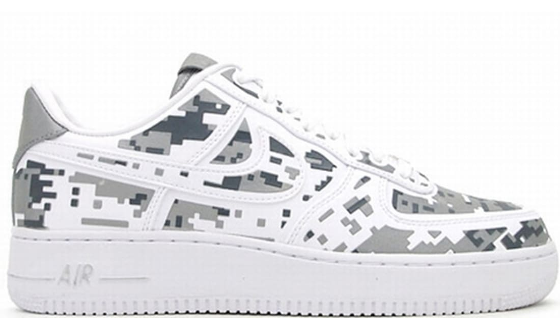 Mens Nike Air Force One Low 08 Premium Qs Digital Camo Shoes