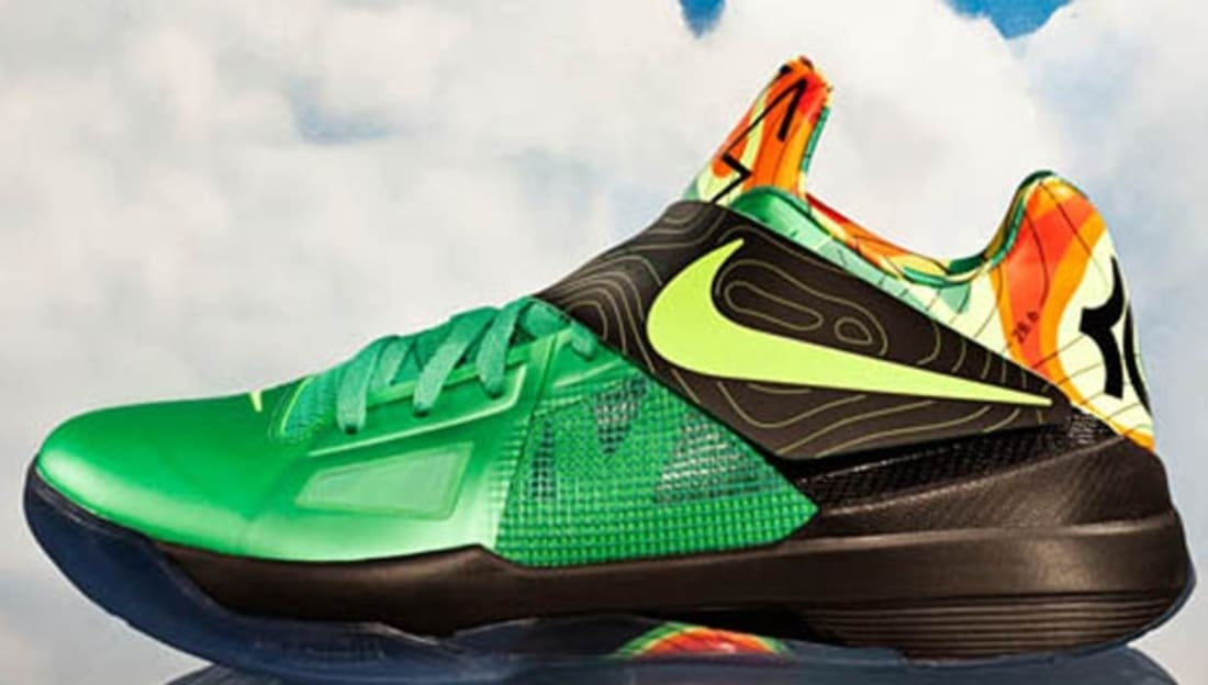 online store dbda3 42bc0 Nike KD 4 Weatherman