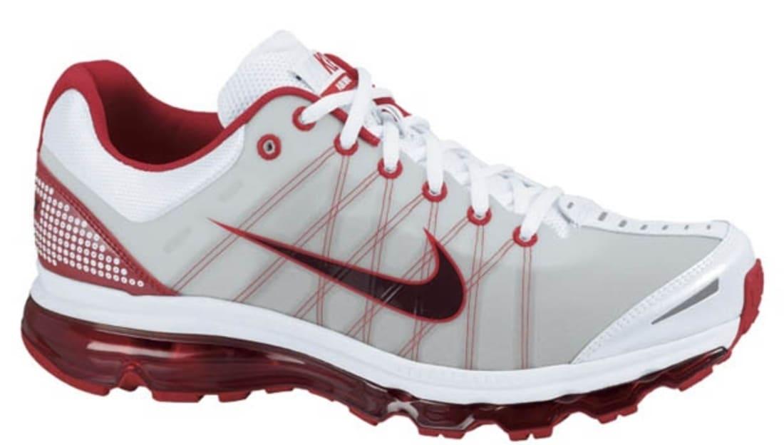 3e056ede861ae1 Nike Air Max 2009+ White Red Mahogany-Sport Red