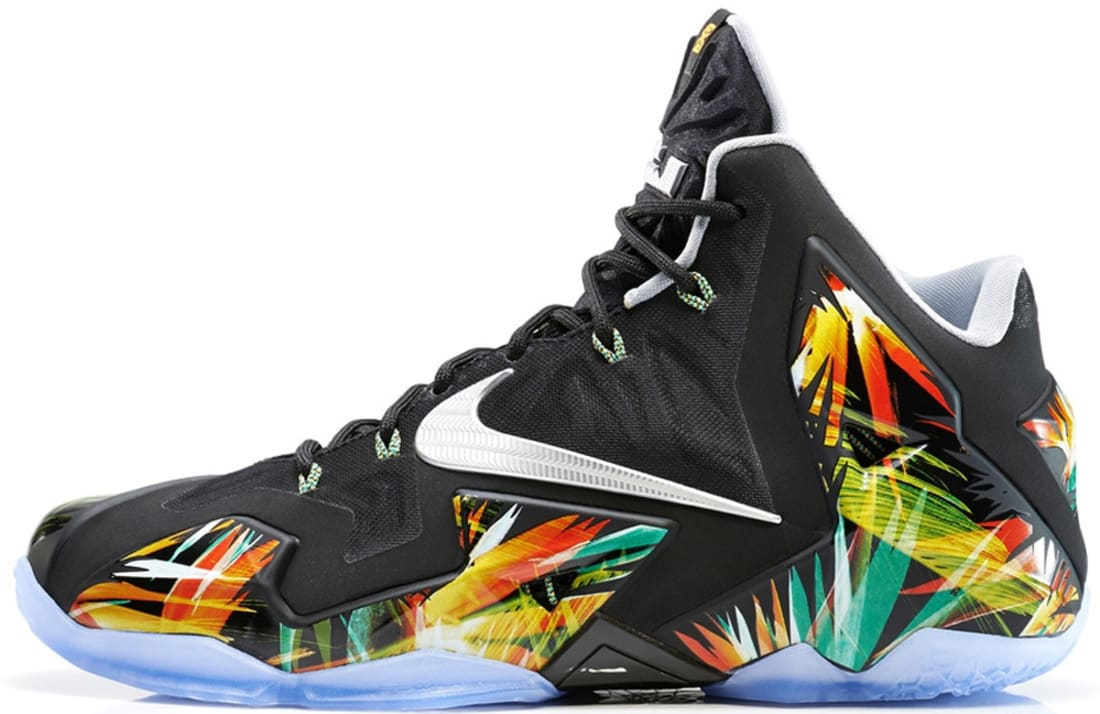 Nike LeBron 11 Black/Metallic Silver-Wolf Grey-Atomic Mint