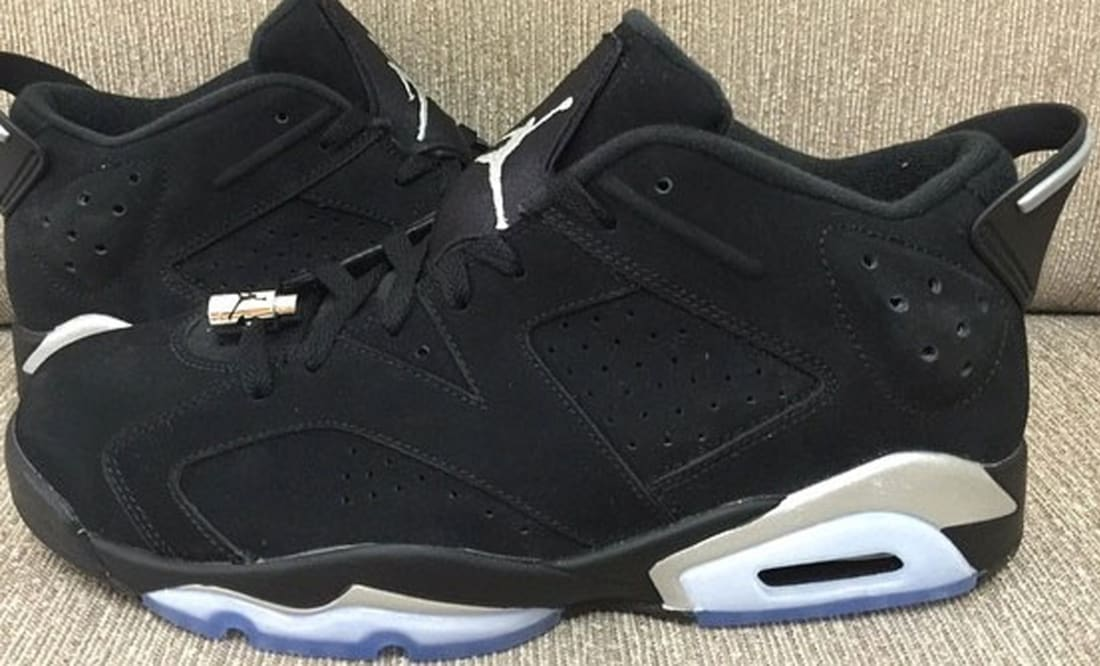Air Jordan 6 Retro Low Black/Metallic Silver-White