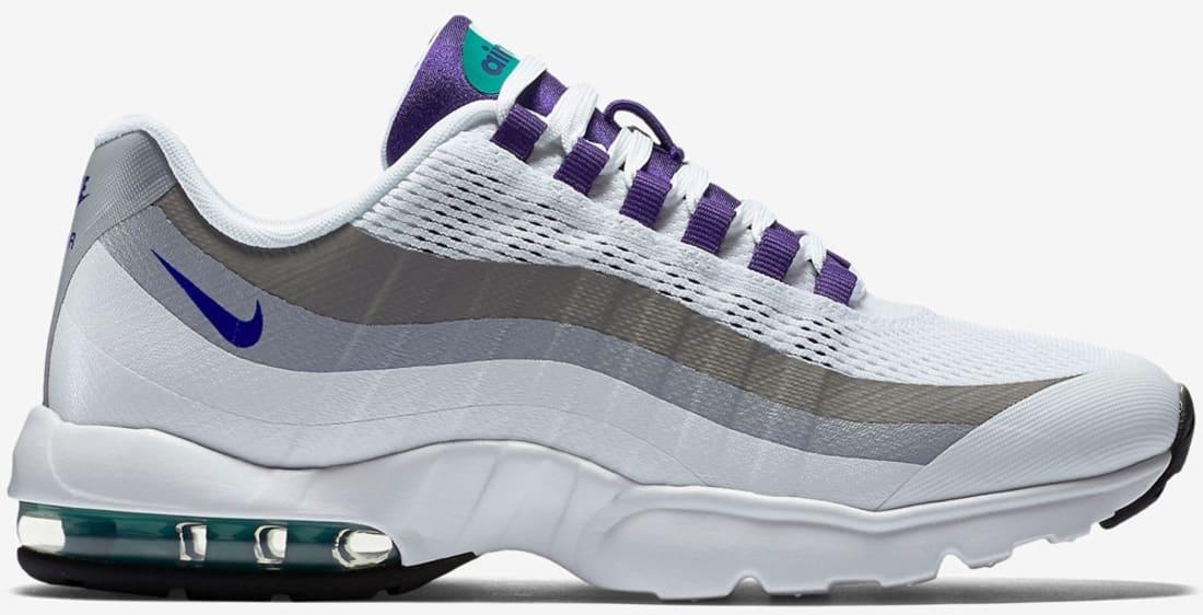 5ff9d932e6 Nike Air Max '95 Ultra Women's White/Court Purple-Emerald Green-Cool ...