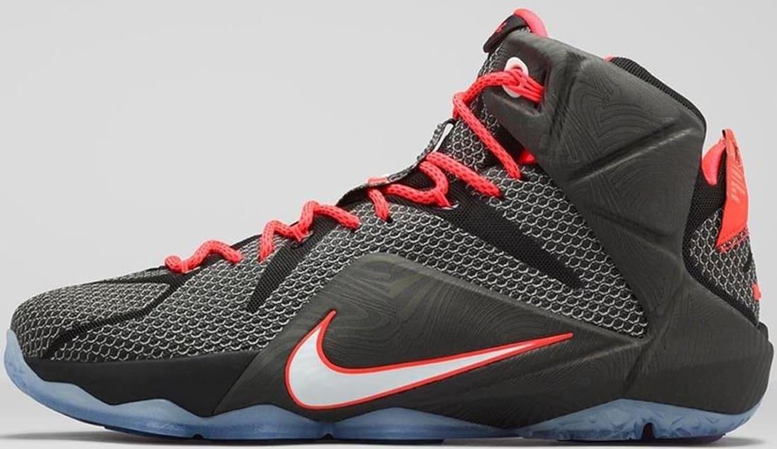 new style 7c617 975fd Nike LeBron 12 Black Bright Crimson-White