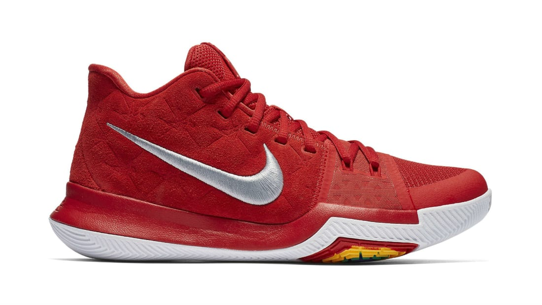 Nike Kyrie 3 University Red-University Red - Wolf Grey