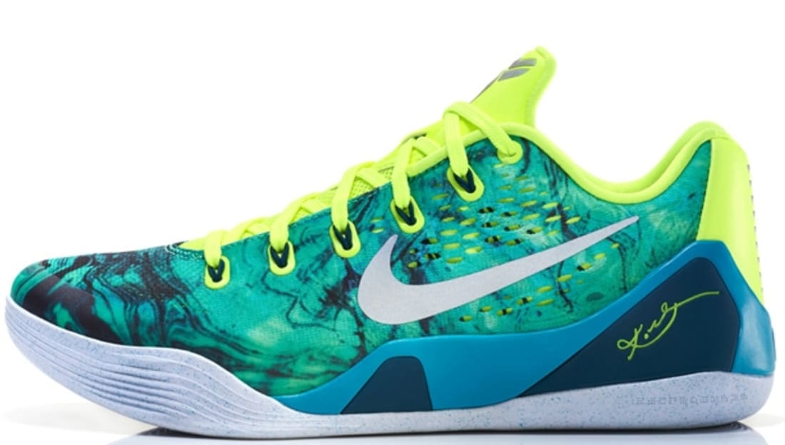 new product 16022 49a4a Nike Kobe 9 EM Turbo Green/Metallic Silver-Volt-Black | Nike | Sole ...