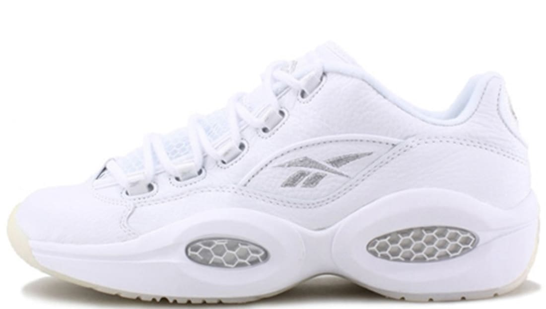 86869d10dadc72 Reebok · Reebok Iverson · Reebok Question. Reebok Question Low White Pure  Silver
