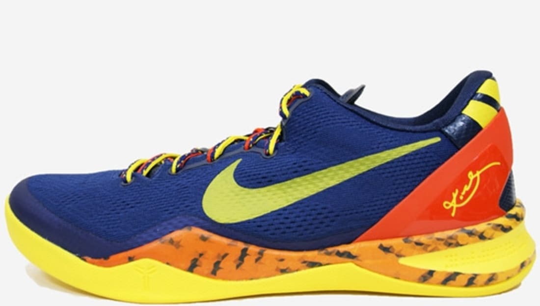 3f00cc78b216 Nike Kobe 8 System Barcelona Deep Royal Team Orange