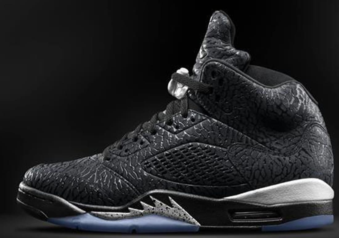 ec3efc79cf38 Air Jordan 3Lab5 Black Black-Metallic Silver