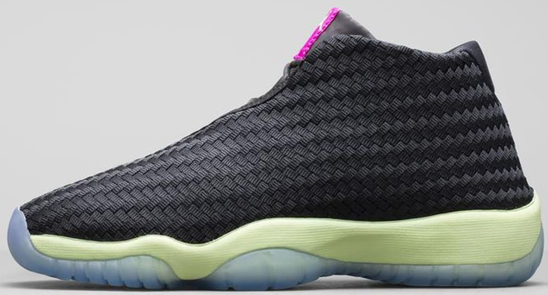 Jordan Future Girls Black/Liquid Lime