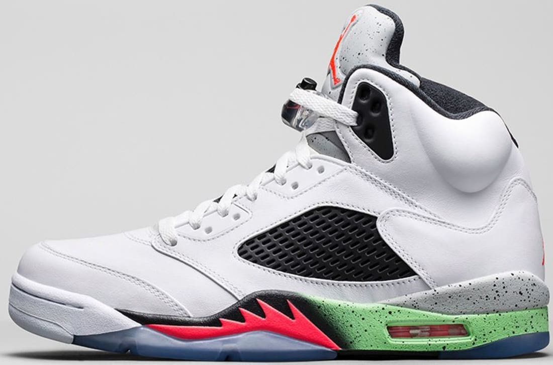 Air Jordan 5 Retro White Infrared 23-Light Poison Green-Black ... acdac25f1
