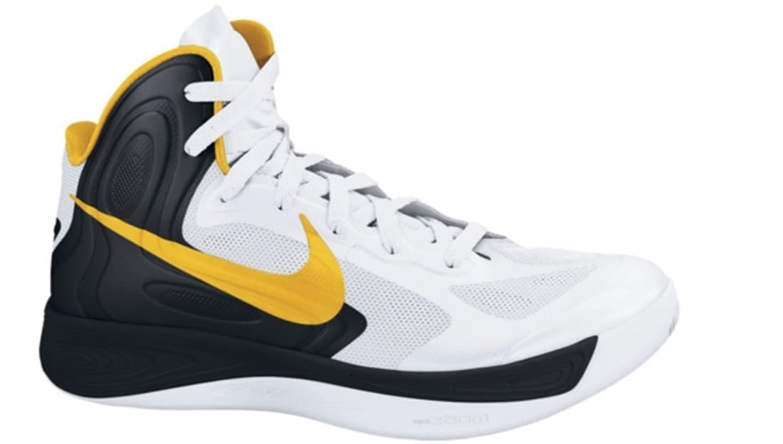 outlet store 94ad4 9cf39 ... cheapest nike zoom hyperfuse 2012 white black university gold nike sole  54b3c 354ad