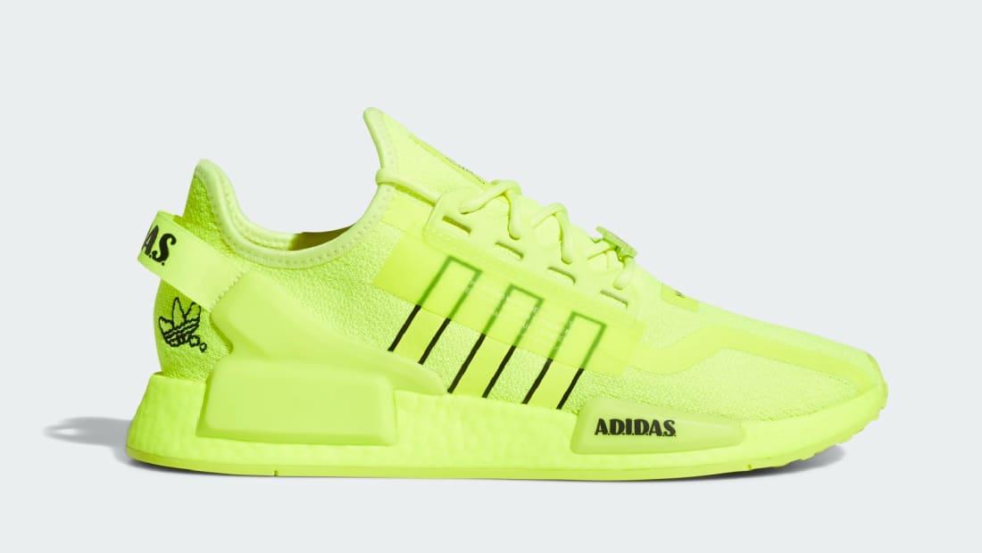 Adidas NMD_R1 V2 Solar Yellow/Core Black/Cloud White