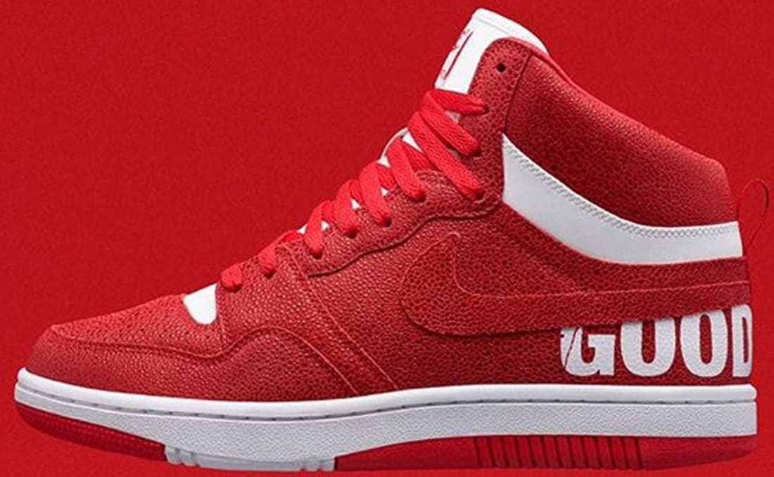 fragment design x NikeLab Court Force Mid GOODENOUGH Red
