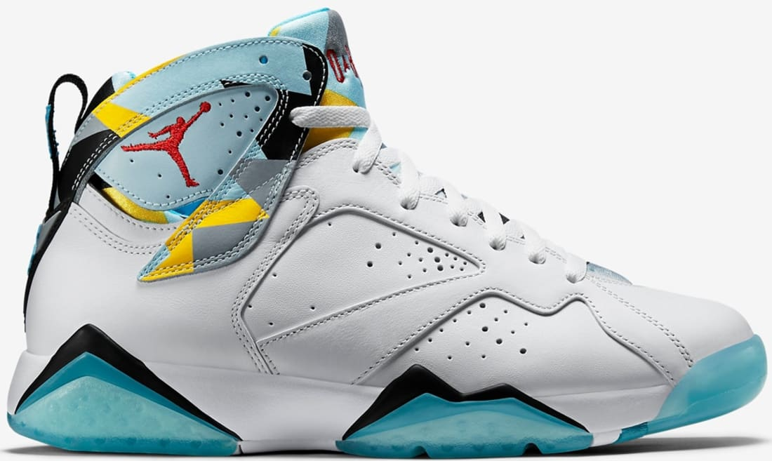 278f310ca2b258 Air Jordan 7 Retro N7 White Dark Turquoise-Black-Ice Cube Blue ...