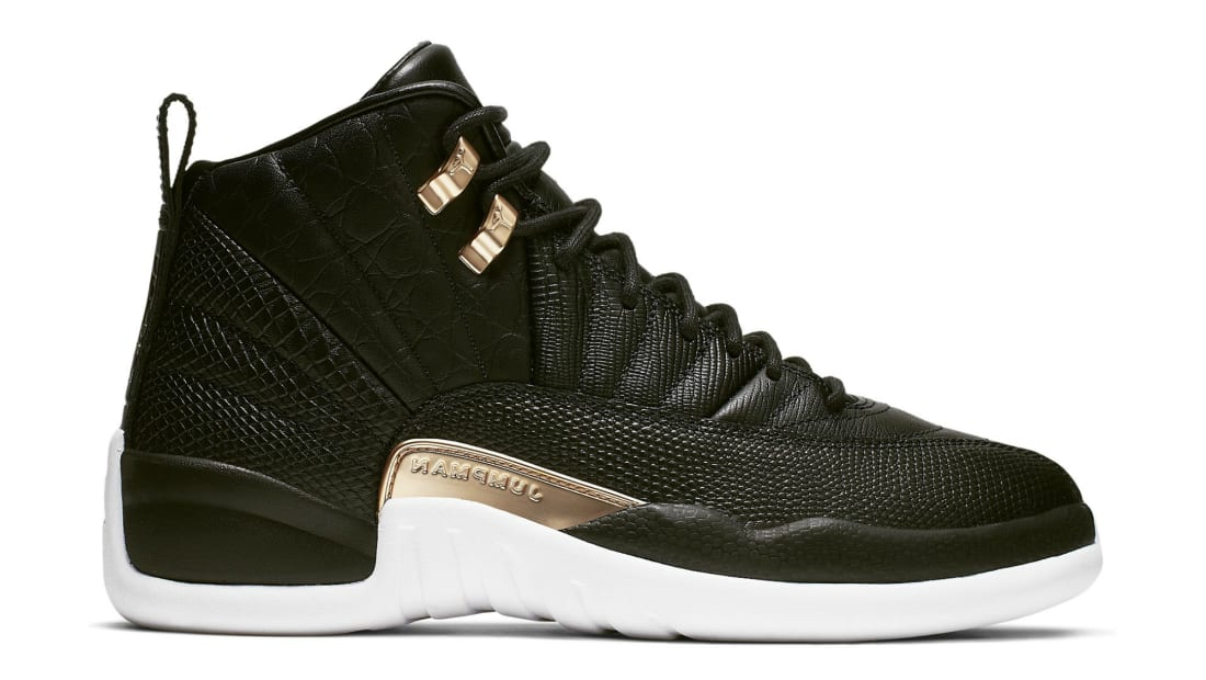 Air Jordan 12 Retro Women's Black/Metallic Gold-White