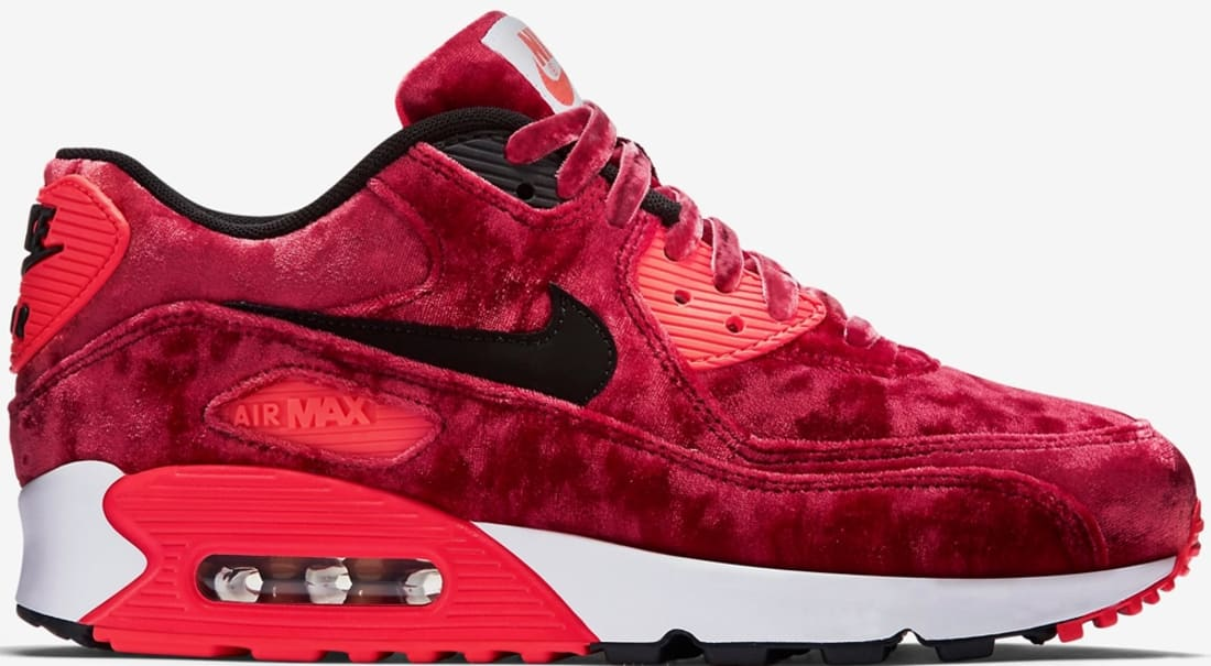low priced e24f1 a22e5 Nike · Nike Air Max · Nike Air Max 90. Nike Air Max  90 Anniversary Women s Gym  Red Black-Infrared-Metallic Gold