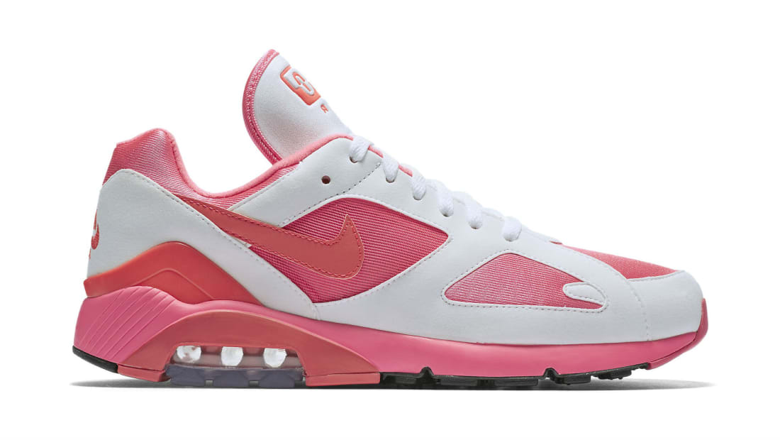 san francisco 5af99 85c12 Nike Air Max 180 x Comme des Garcons Laser Pink Solar Red-White