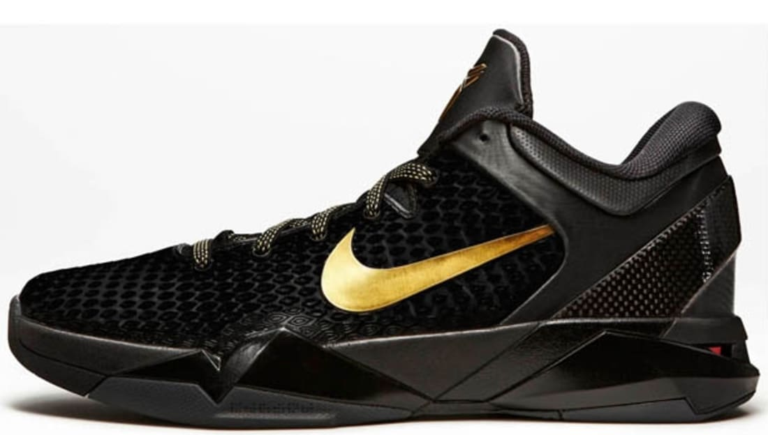 ff6093522f8 Nike Zoom Kobe 7 System Elite Black Metallic Gold