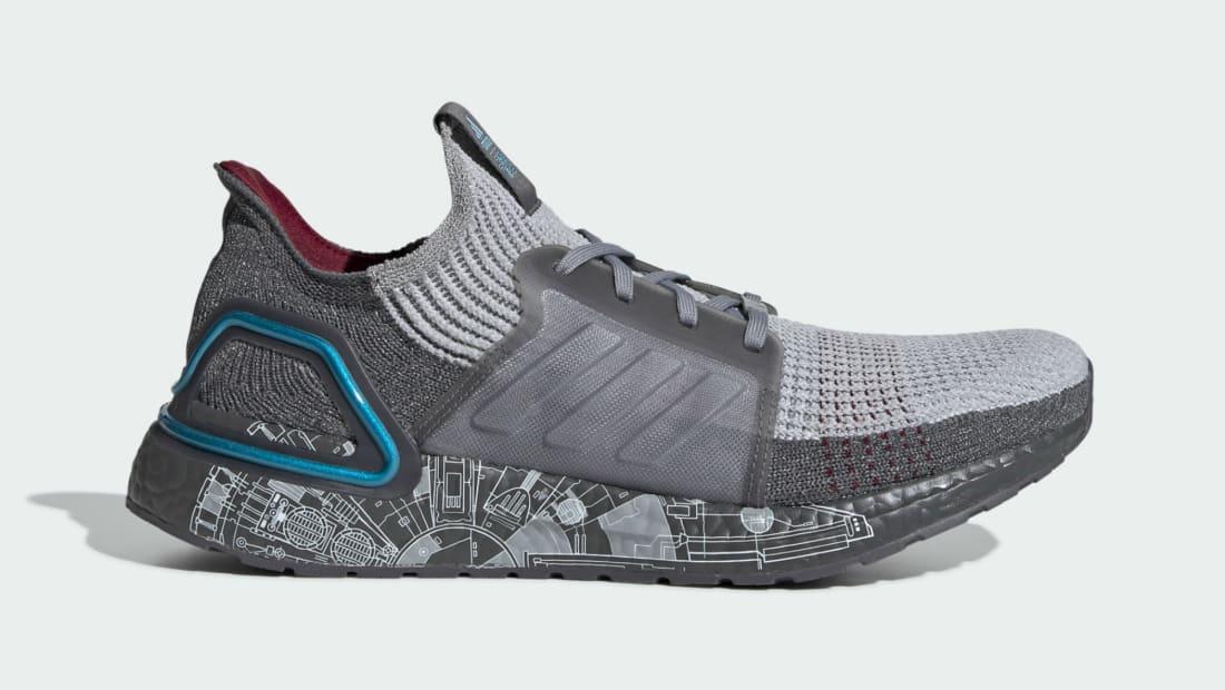 Star Wars x Adidas Ultraboost 19 Grey/Grey Two/Bright Cyan