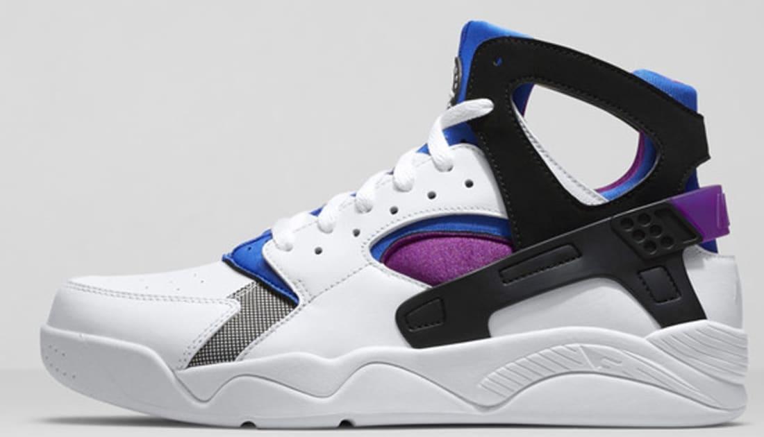 Nike Air Flight Huarache Premium QS White/Black-Lyon Blue-Bold Berry