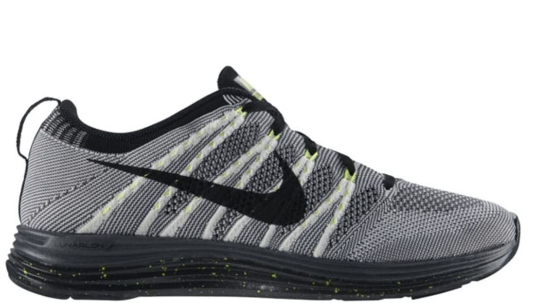 pretty nice b3533 54821 Nike Free Flyknit Lunar1 White Black-Dark Grey-Volt